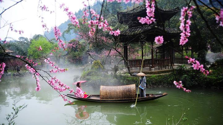 航拍桃花源 感受兩千年前的詩意生活
