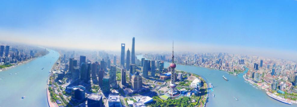"""【改革開放40年""""飛閱""""上海】航拍陸家嘴——紀念浦東開發開放28周年"""