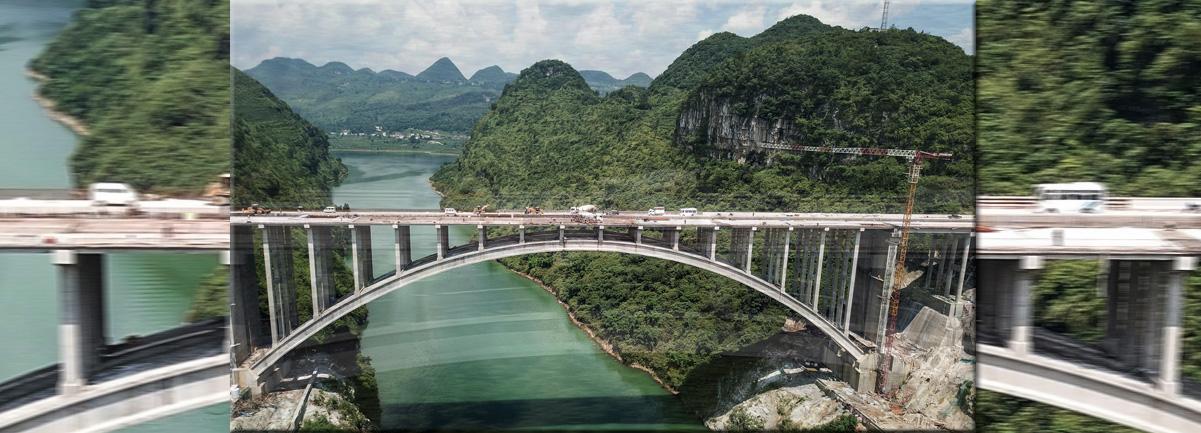 貴州織普高速夜郎湖特大橋全線貫通
