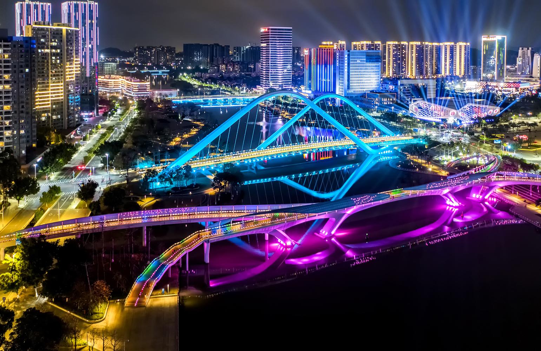 夜瞰廣州南沙 品別樣風情