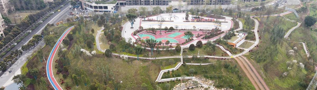"""打卡重慶70米落差""""挂毯""""公園"""