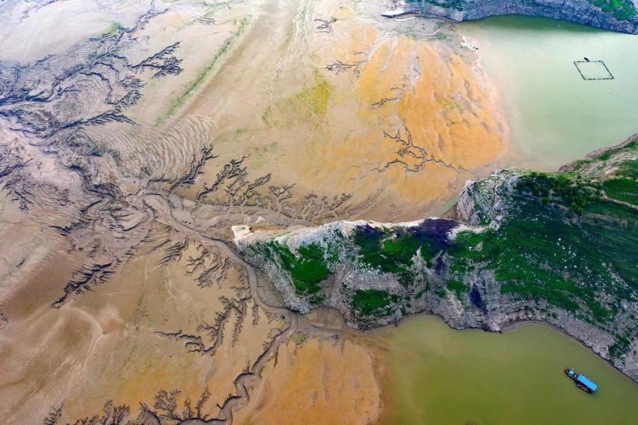 【航拍】黃河河床上的美麗圖畫