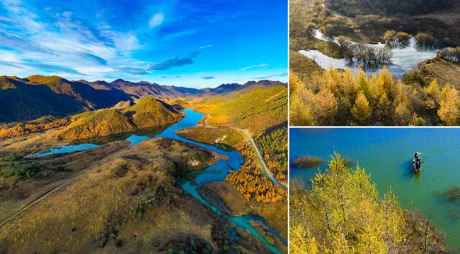 航拍重慶西流溪秋冬景觀