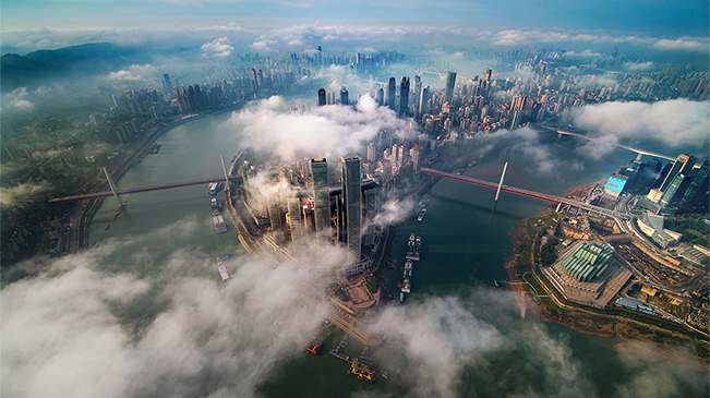 """當山城遇上雲霧 這座城美到了""""雲上"""""""