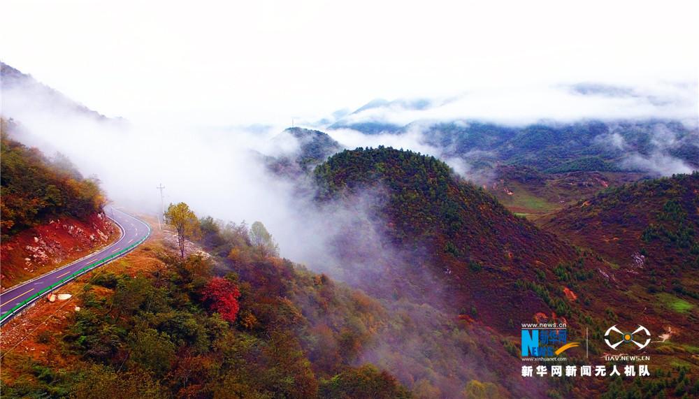 """【""""飛閱""""中國】航拍西流溪之秋 愛上重慶紅池壩"""