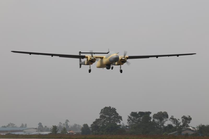 雙尾蝎無人機光電載荷試飛圓滿成功