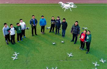 河北唐山:無人機進入學校第二課堂