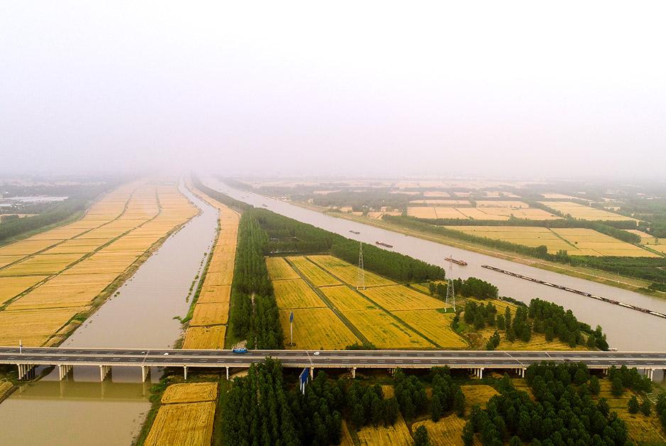 航拍蘇北灌溉總渠:打造江淮生態廊道